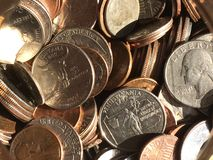 Coins a glow Royalty Free Stock Image