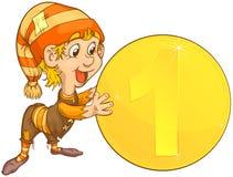 coins gnome Arkivbilder