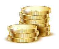 Coins gold Stock Images