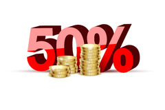 Coins gold Stock Photography