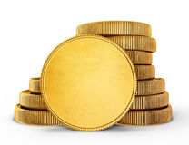 Coins. Gold coins isolated on a white. 3d illustration Royalty Free Stock Images