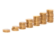 Coins graph Stock Image