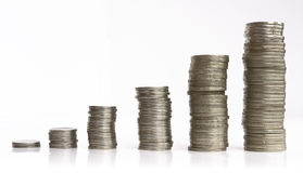Coins Graph Royalty Free Stock Images