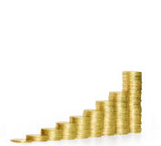 Coins graph stock Stock Image
