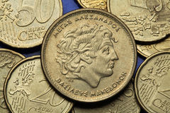 Coins of Greece Stock Photography