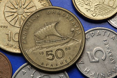 Coins of Greece Royalty Free Stock Photo