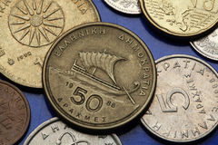 Coins of Greece Stock Images