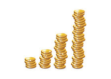 coins guld- stock illustrationer