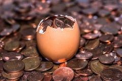 coins guld- Royaltyfri Fotografi