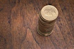 coins guld- Gammal italiensk Lira Arkivfoto