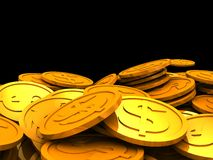 Coins heap Stock Photo