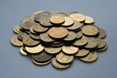 Coins heaps Stock Images