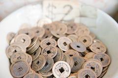 Coins from Hong Kong Stock Image