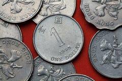 Coins of Hong Kong. One Hong Kong dollar