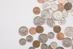 Coins horizontal Stock Photo