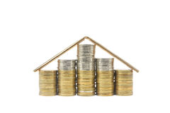 Coins house Royalty Free Stock Photography