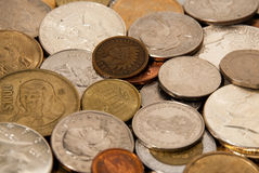 Coins and Indian Head Penny Royalty Free Stock Images