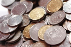 Coins. Indian coins in white background Royalty Free Stock Photo