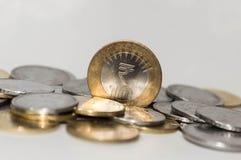 coins indier Arkivbilder