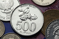 Coins of Indonesia Stock Image
