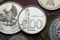 Coins of Indonesia Royalty Free Stock Photos