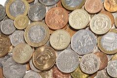 coins internationalen Royaltyfria Bilder