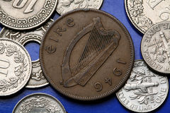 Coins of Ireland Stock Photography