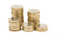 Coins isolated Royalty Free Stock Photos
