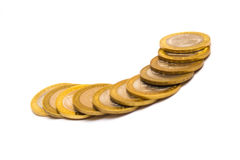 Coins isolated Royalty Free Stock Photography