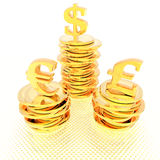 Coins isolated on a white Royalty Free Stock Photography