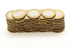 Coins isolated on white Stock Photos