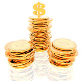 Coins isolated on a white Royalty Free Stock Image