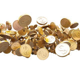 Coins isolated on white, abstract background. Coins isolated on white background, abstract royalty free illustration