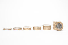 Coins isolated on white Royalty Free Stock Images
