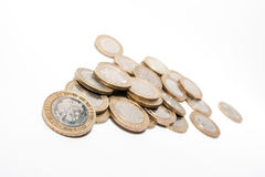 Coins isolated on white Stock Image