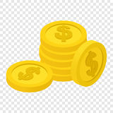 Coins isometric 3d icon Stock Image