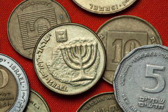 Coins of Israel. Menorah Royalty Free Stock Photography