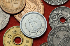 Coins of Japan Stock Photography