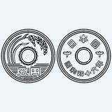 Coins of the japanese currency Stock Photo