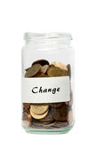 Coins jar change Royalty Free Stock Photography