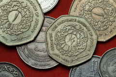 Coins of Jordan Stock Image
