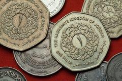 Coins of Jordan Stock Photos