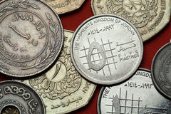 Coins of Jordan Royalty Free Stock Photography