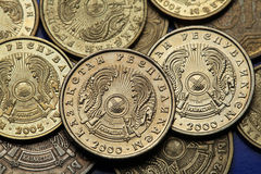Coins of Kazakhstan Stock Images