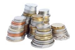 coins kolonner Royaltyfria Bilder
