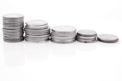 coins kolonner Royaltyfri Foto