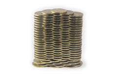 Coins in levels Royalty Free Stock Photos