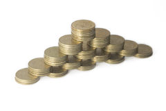 Coins in levels Royalty Free Stock Images