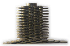 Coins in levels Stock Photography