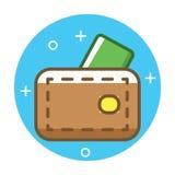 Sign, illustration on background. Coins  line icon, sign, illustration on background,  strokes Stock Image